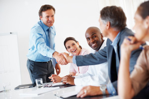 Private lender & Borrower Handshake